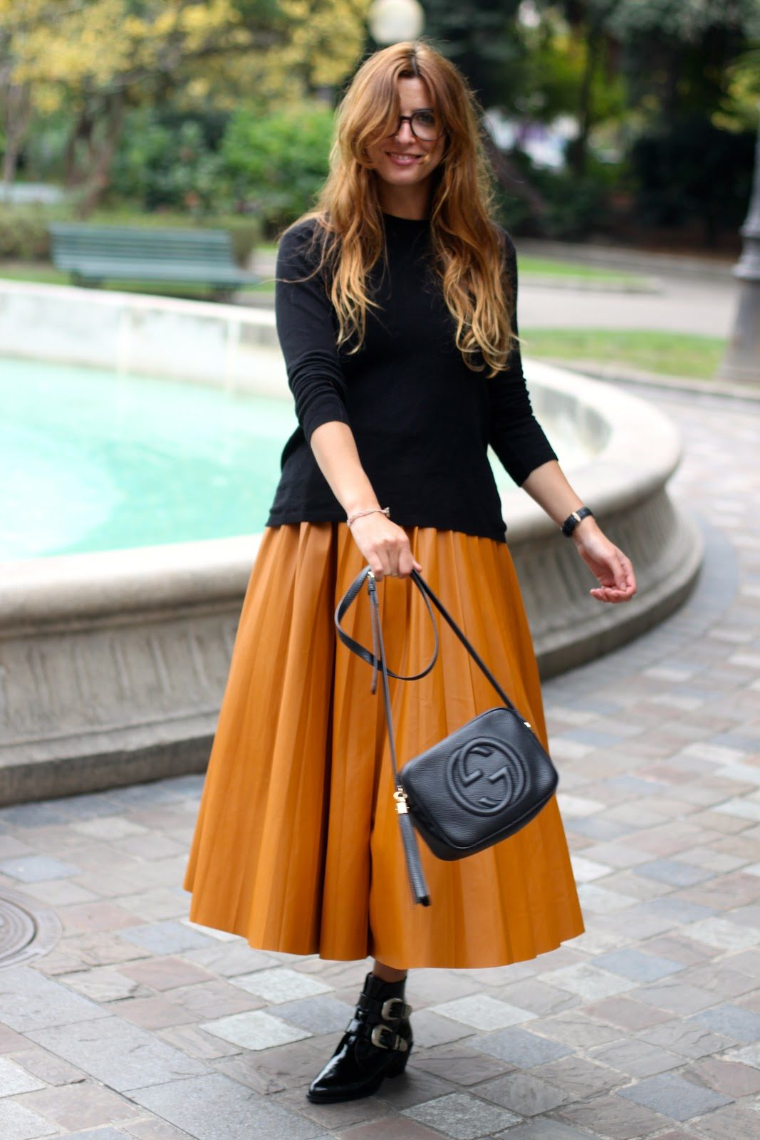 midi skirt gucci disco bag