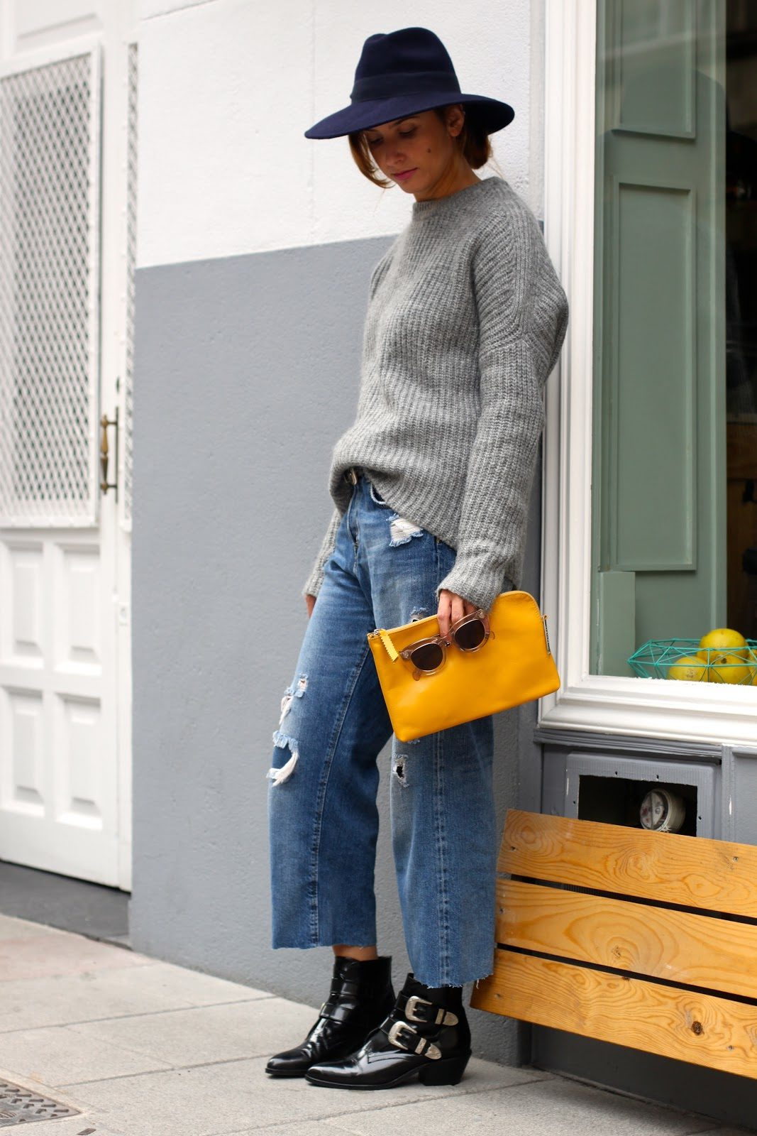 Lacambra bag Addictia jeans ankle boots