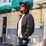 Hat, bomber and Golden Goose