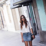 Denim skirt and summer