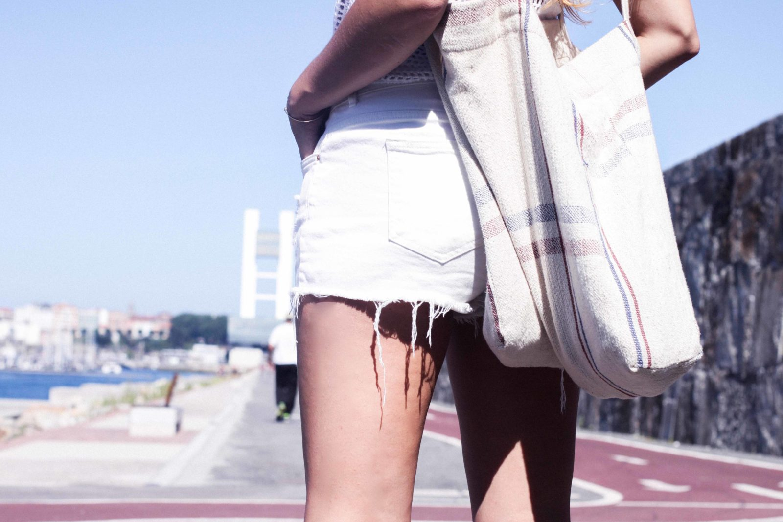 top de crochet conjunto blanco paseo marítimo coruña