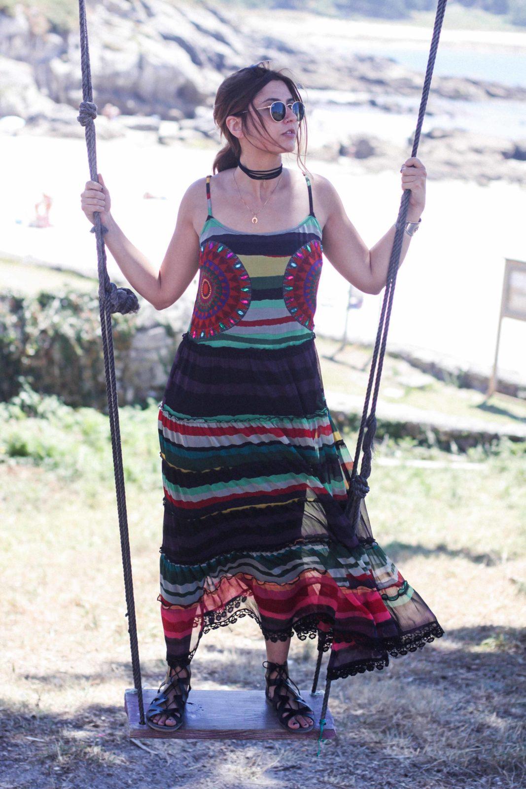 vestido largo desigual