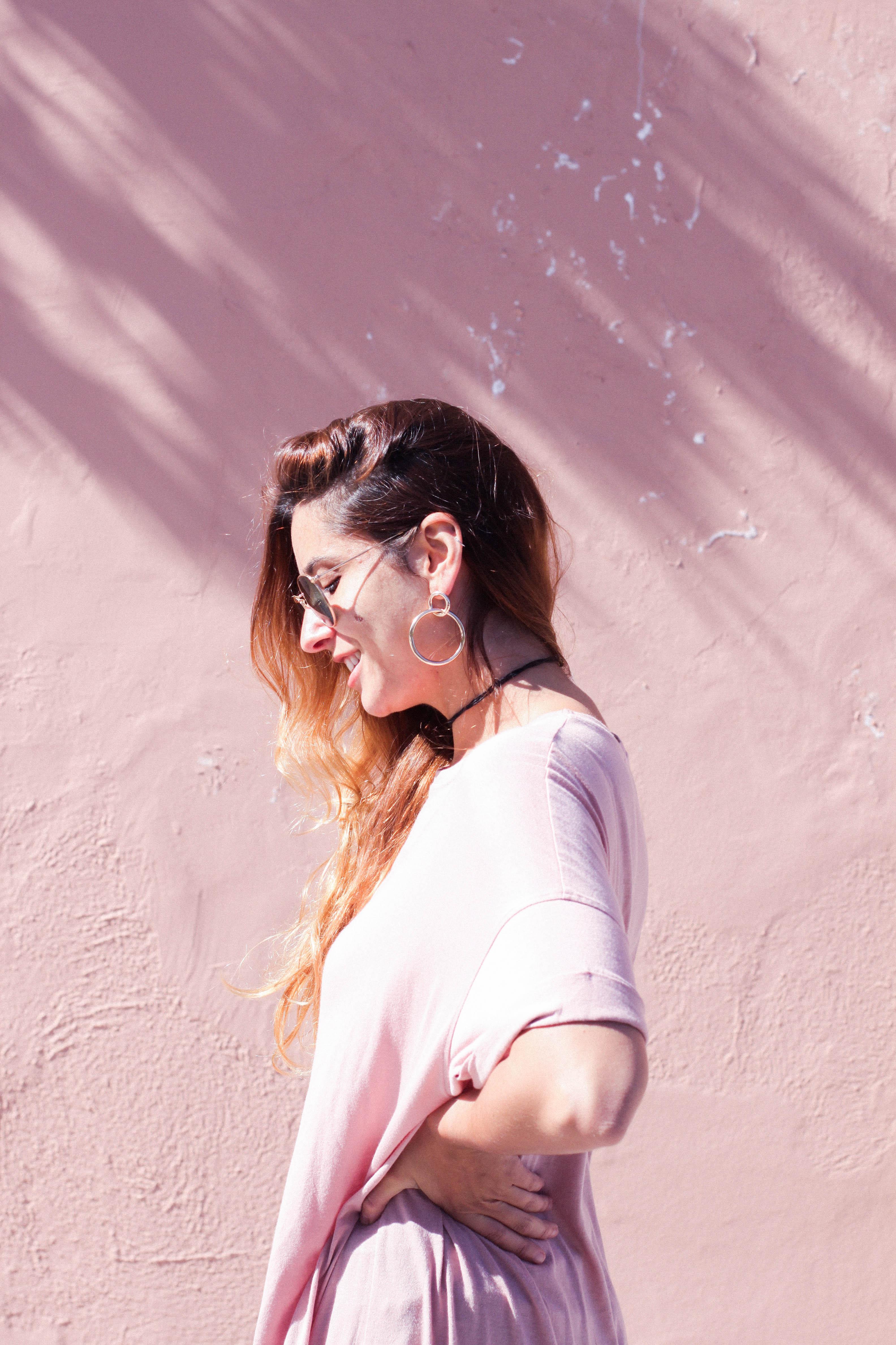terciopelo rosa velvet mules aros