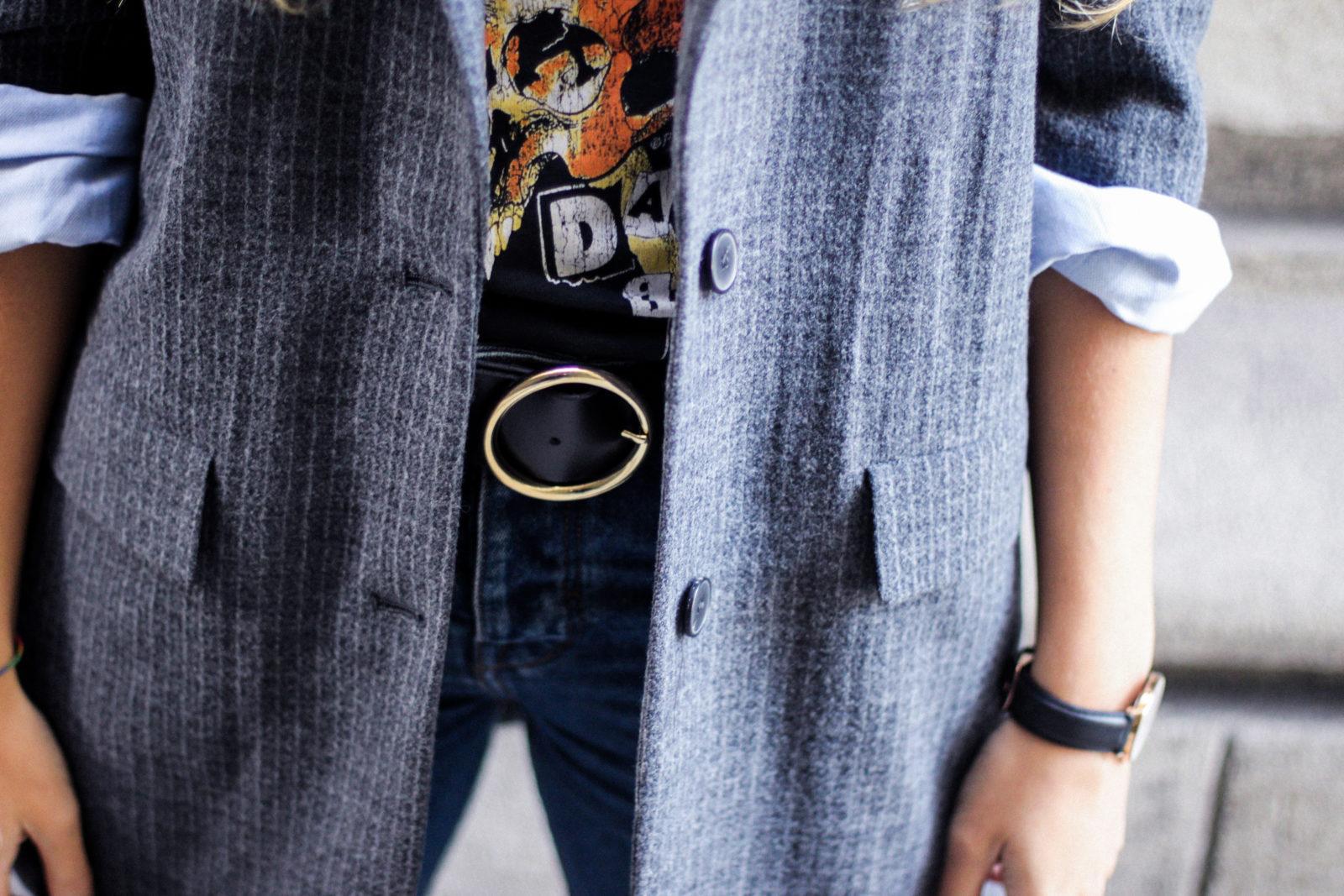 chaqueta oversize blazer band tee