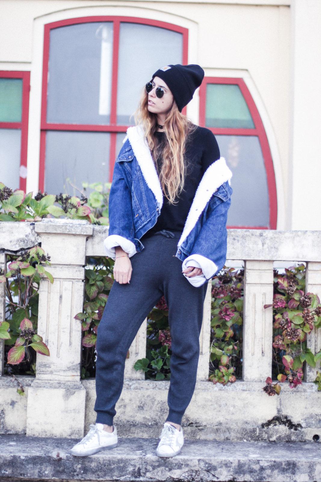 cazadora_vaquera_de_borreguillo_levis_vintage_golden_goose_gorrito_beanie_tendencias_2016_fall_trends_street_style_choker_donkeycool-27