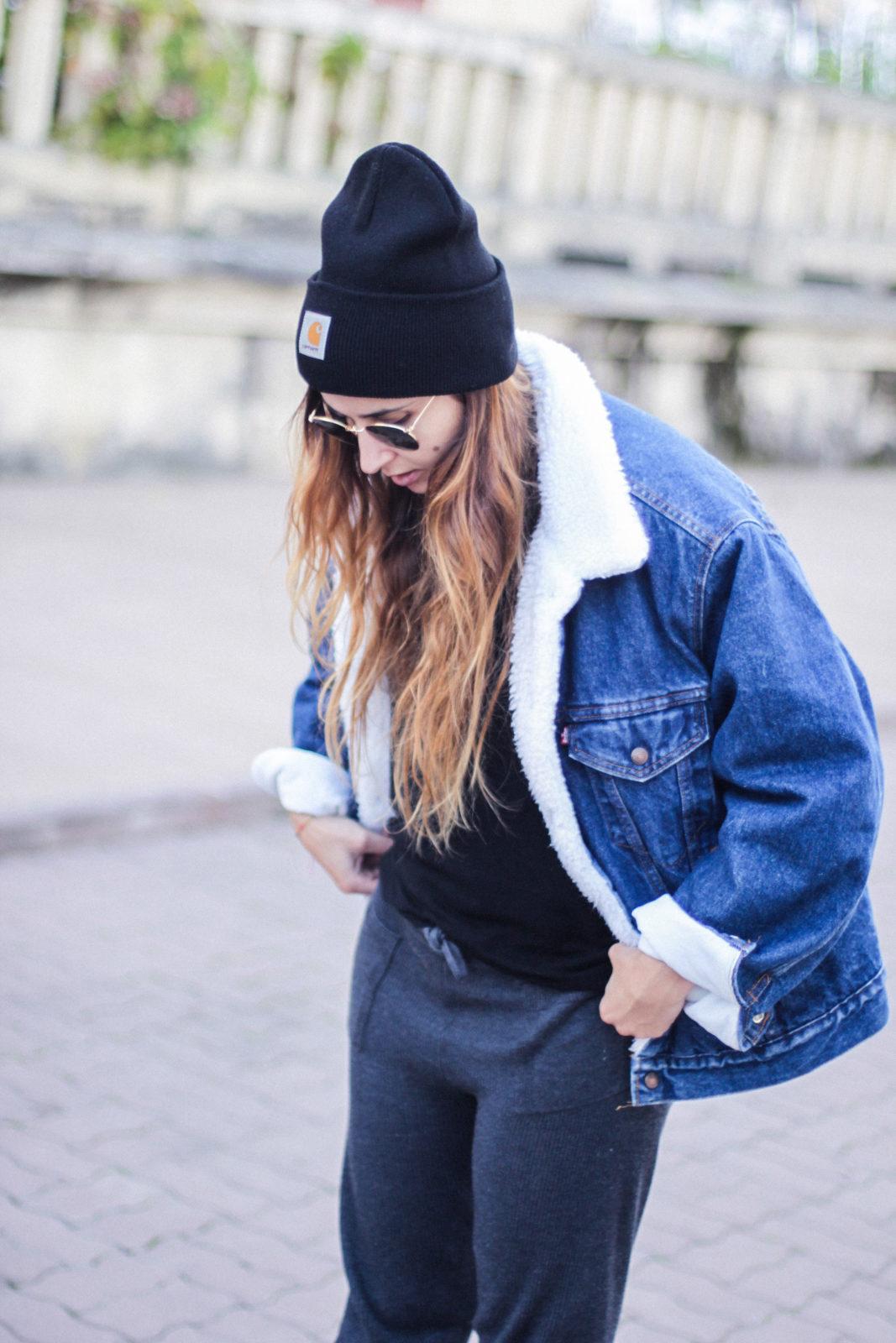 cazadora_vaquera_de_borreguillo_levis_vintage_golden_goose_gorrito_beanie_tendencias_2016_fall_trends_street_style_choker_donkeycool-29