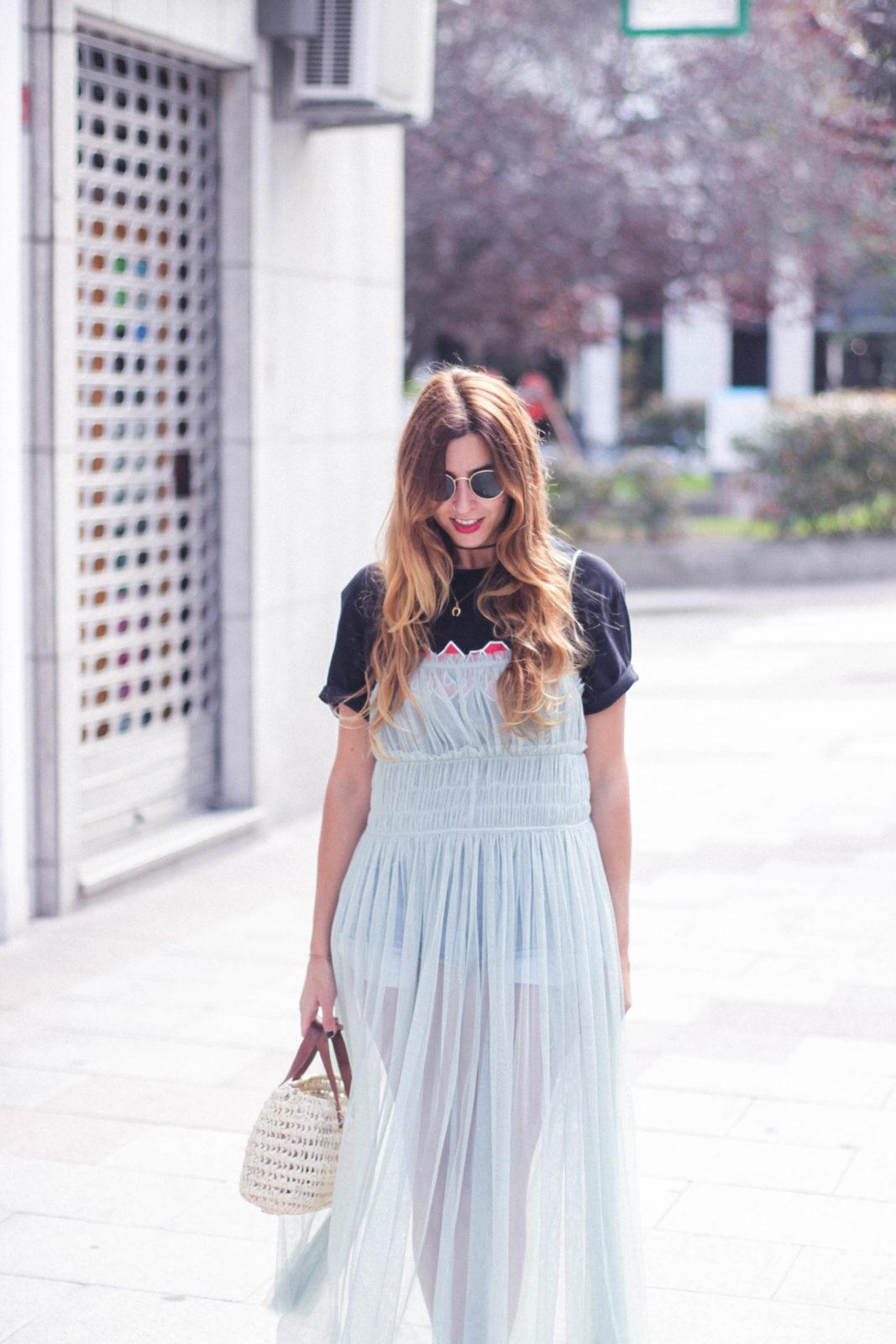 efecto moda ballet vestido tul zara