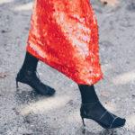 Una falda roja de lentejuelas y ¡que empiece la fiesta!